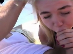 Pretty teen girl Alina West asshole pounded in the yacht