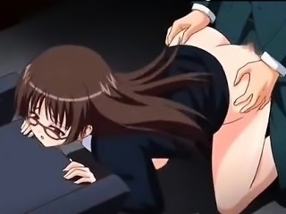 Cuming in my young hot secretary anime video