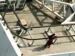Naughty stud fucks slim Spanish beauty in his yacht