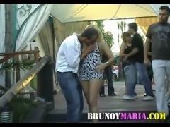 Maria de brunoymaria Follada en Publico Con Unos Chicos free