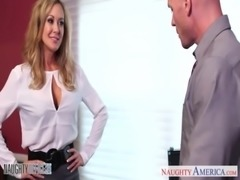 Stockinged office babe Brandi Love gets nailed free