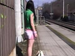 Teenage men masturbation tricks Masturbating at the train st