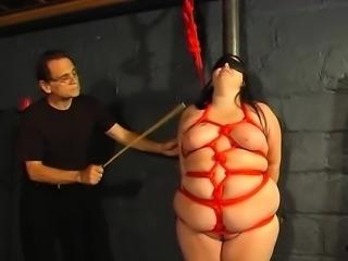 BBW hottie bound ends with wax on her ti - Fuck her on BBW-C