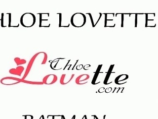 Sexy, petite teen Chloe Lovette is in her favorite batman