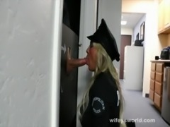 Busty Cop Trys Glory Hole And Swallows Cum free