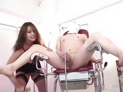 """Naughty nurse jerks her patients cock"""