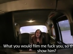 Bitchy teen gets a very hardcore sex in a cab