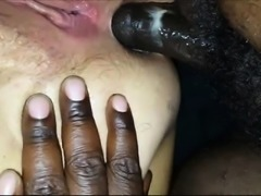 Chubby White chick fucked by a big black cock