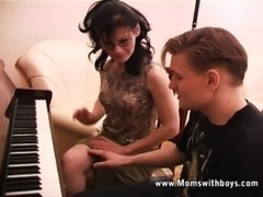 Mature Horny Piano Tutor Fucking Her Student free