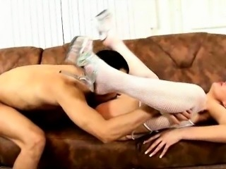 Lovable blonde Russian bitch Polly getting throat drilled