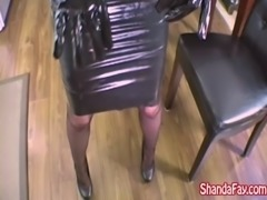 Shanda Fay Jerks Off Hard Cock With Latex Gloves! free