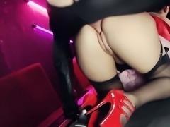 Paige enjoys a fetish fuck threesome