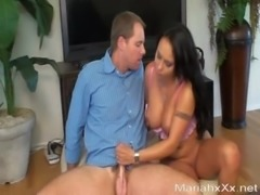 Sucking my friends husbands cock while she watches & films it! Facial BJ free