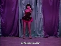 Bettie Stripping in Sparkling Clothes (1950s Vintage)