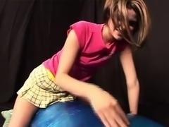 Brunette Slaps That Dick Up