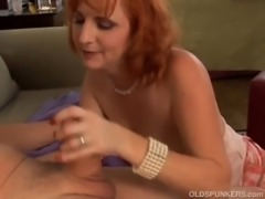 Super sexy mature redhead is a squirter free