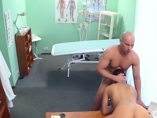 Hot nurse fucked on a desk