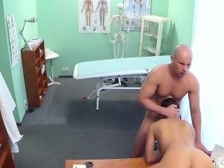 Hot nurse fucked on a desk