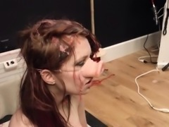 stunning violently banged bdsm babe