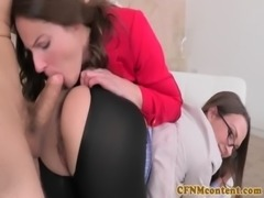 CFNM femdom Lily Love fucking for a deal free