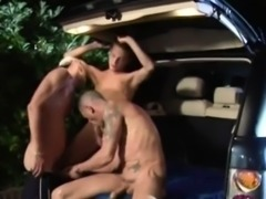 Back seat boys pack their asses full with cocks