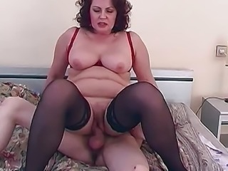 """Mature amateur gets her pussy filled with hard cock"""
