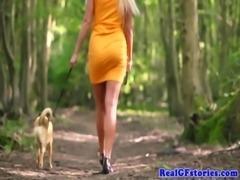 Scottish housewife fucks black cock outdoors free