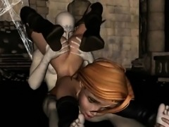 Busty 3D vixen gets her pussy licked and fucked