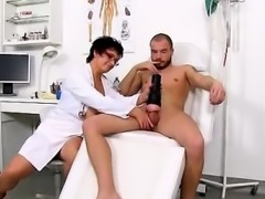 Big natural tits lady Greta is dirty doctor with uniform