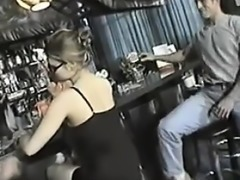Black dress babe gangbang in bar then wa - From CHEAT-MEET.C