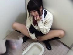 Asian schoolgirl rubbing