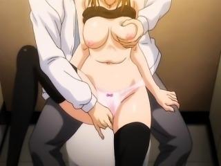 Hentai girl gets fucked on public toilet