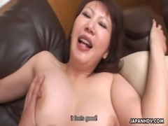 Hot Japanese MILF with big tits rides a hard cock free