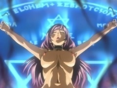 Hentai girl gets caught and fucked by shemale