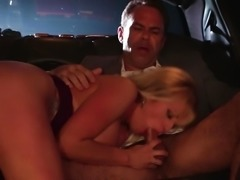 """Stormy Daniels gives head in the back seat of a car"""