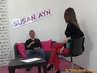 Anal fuck on a casting couch