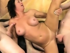 Hoe Sky Haven Gets Double Stuffed By Hung Dudes