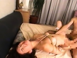 Asian slut is tied up and enjoys the bdsm session