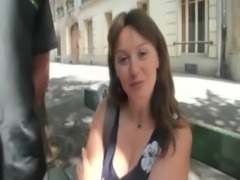 Sylvie a French mature double fucked free