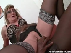 Granny gets black cock up her ass free