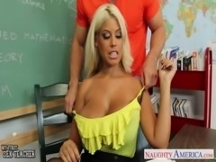 Very sexy teacher Bridgette B. fuck in classroom free