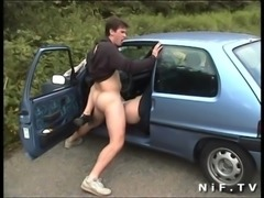 Amateur french slut gets anal fucked outdoor and in the car free
