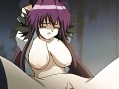 """Purple haired hentai girl fucked hard"""