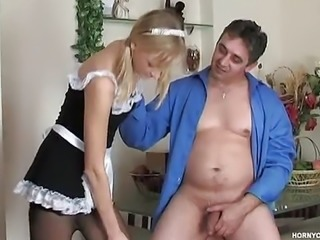 """Jess is a cute maid loves fucking with her boss"""