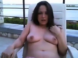 Topless Teen Girl Teasing Outdoors