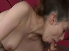Mature asian MILF in stockings nailed after great blowjob free