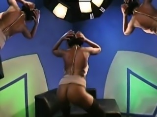 Sexy darlings get raunchy fuck session at the studio