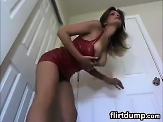 MILF Smokes And Shows Off Her Boobs