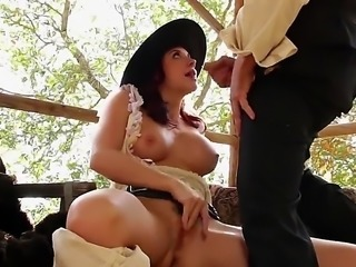 Redhead babe that goes by the name of Chanel Preston is going to take it real fucking deep! This cowgirl is one helluva slut and she knows that and she loves it!
