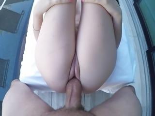 """POV - Sexy Bella Skye cock shoved in her sexy clit slit!!!"""